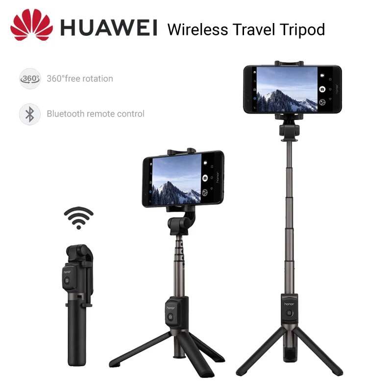 Original Huawei Honor AF15 Bluetooth trípode/palo Selfie portátil inalámbrico de Control remoto Monopod de mano para iOS teléfono Android
