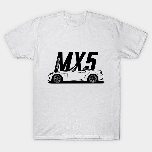 Camiseta masculina mazda mx5 nc melhor design de camisa camiseta feminina