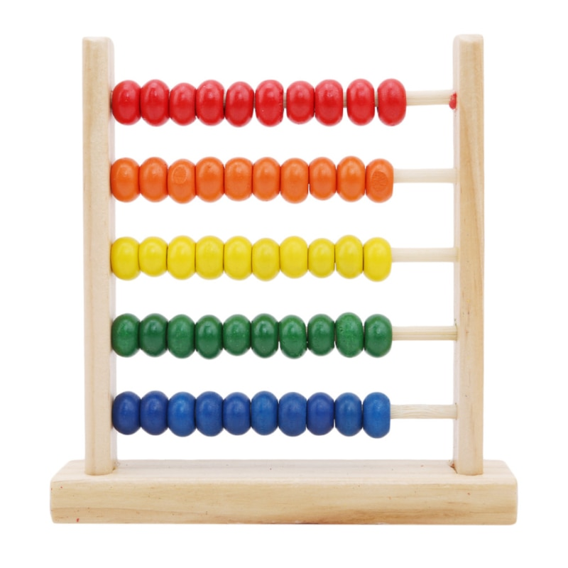 Juguete educativo, Mini Ábaco de madera para niños, juguete para aprender matemáticas, contador de números, calculadora, abalorios de ábaco Montessori