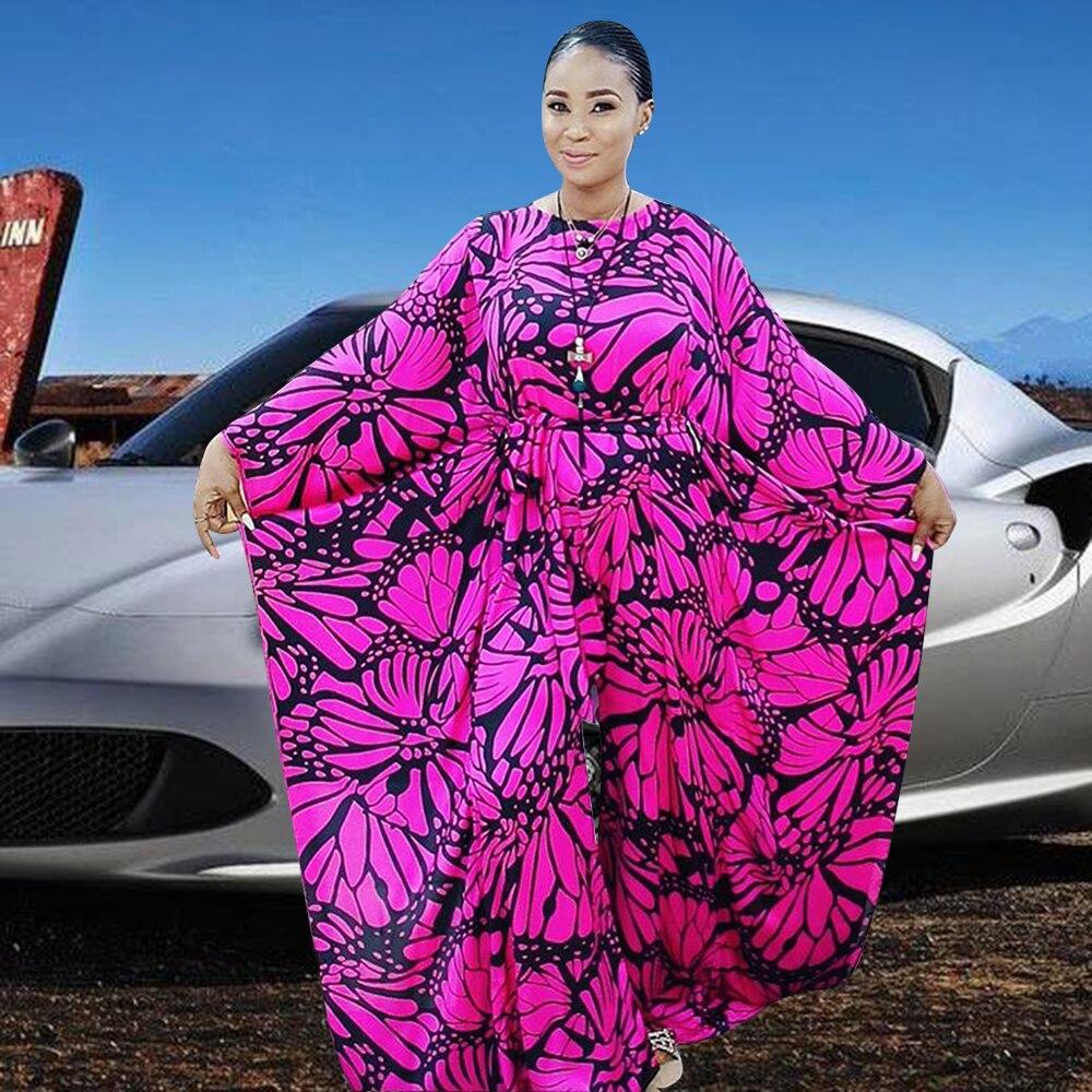 أنيقة السروال القصير 2021 الخريف مثير المرأة حللا O-طوق طويل الخفافيش كم واسعة الساق بلاي الدعاوى طباعة تصميم الأفريقية الموضة