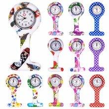 Fashion Colorful Silicone Medical Nurse Watches Portable Brooch Fob Pocket Quartz Watch Hanging Pend