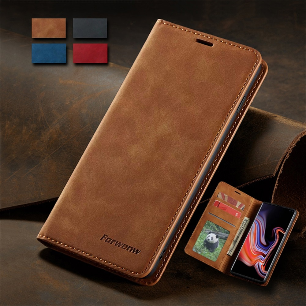 Ultra Slim Leather Case for Samsung A71 A51 A41 A01 S10e Note20 Ultra S20 S10 Plus Flip Cover A70 A5