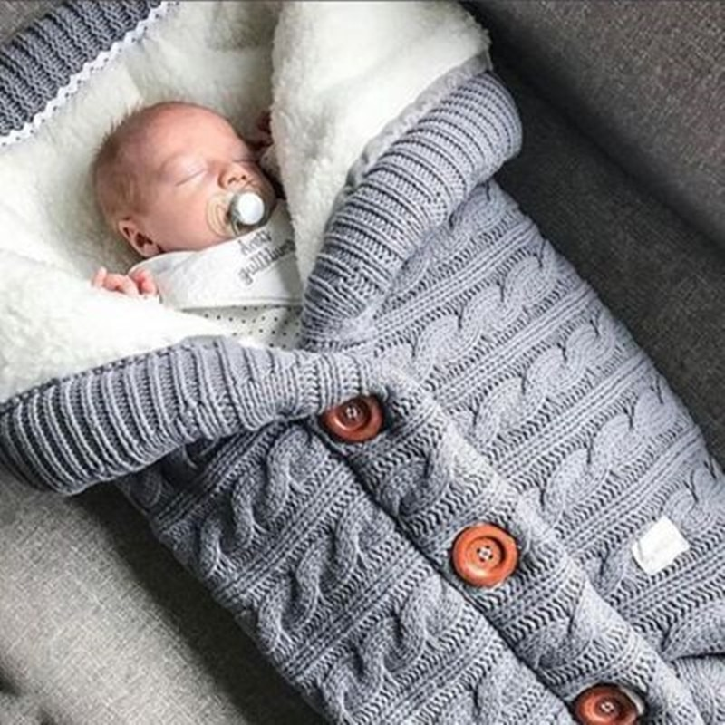 Baby Sleeping Bag Infant Winter Bed Sleeping Bag for Stroller thick Warm Wheelchair Envelope Sleepsack Baby Stroller Accessories