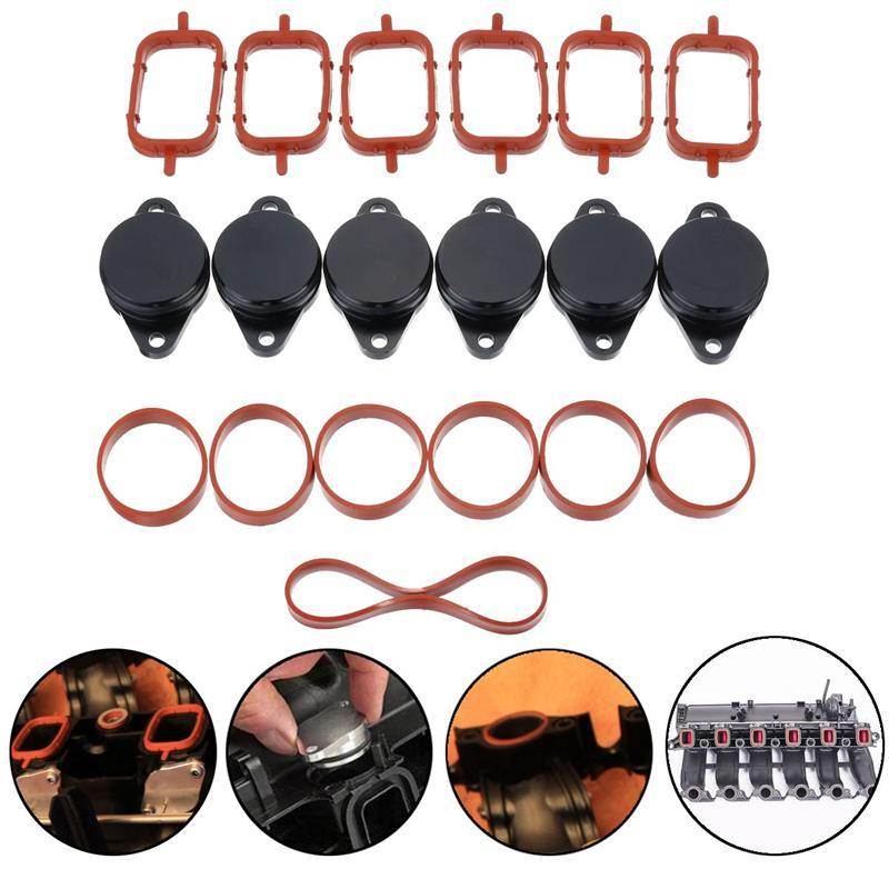 19Pcs 33mm O-Rings Car Swirl Flap Bungs + Manifold Gaskets For BMW E39 E46 E53 E60 E90-E93 1999-2010 #11617790198