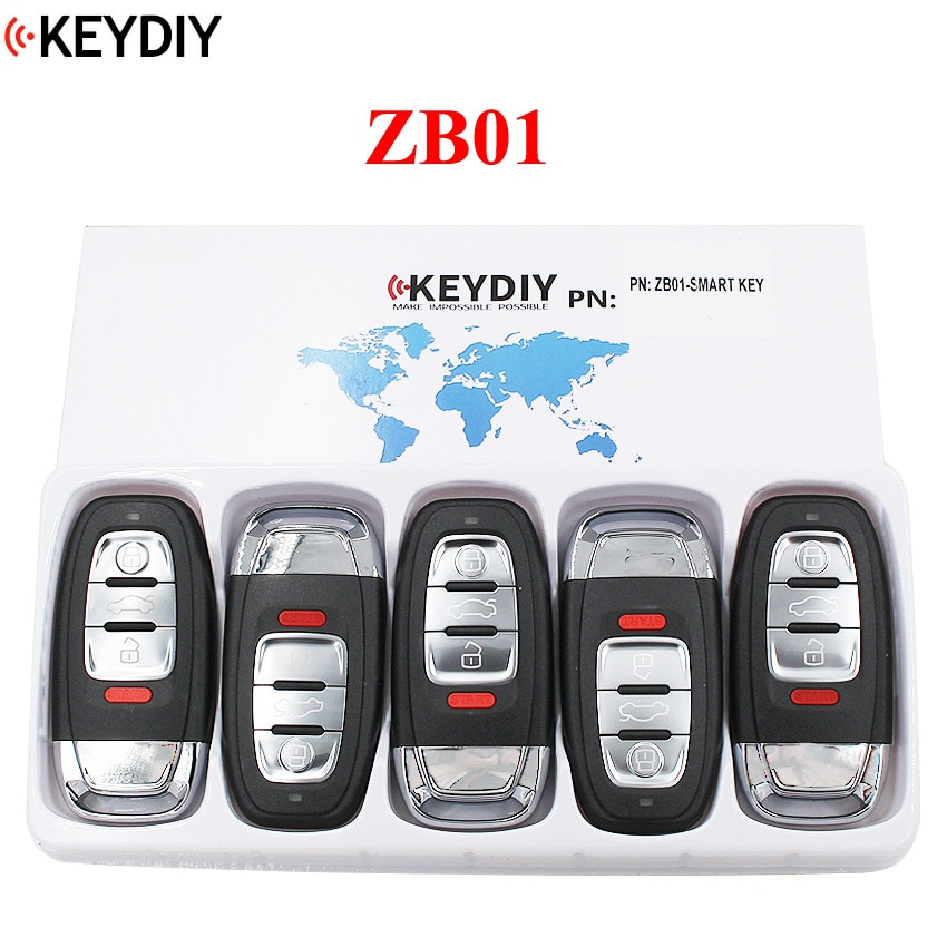 5 pçs, keydiy universal inteligente chave ZB02-3 zb03 zb04 zb05 zb06 zb01 para KD-X2 kd900 mini kd chave do carro remoto caber mais de 2000 modelos