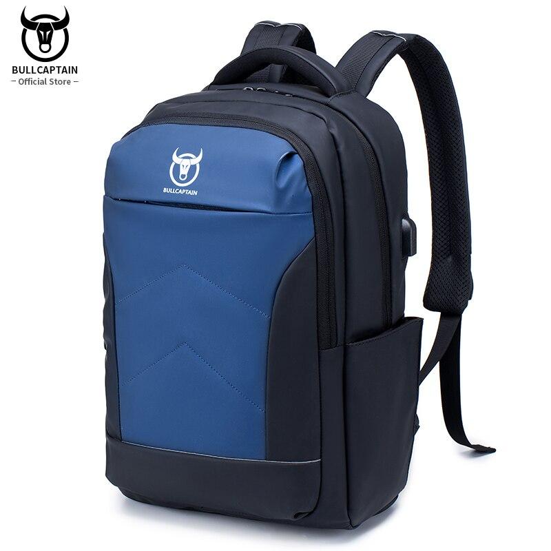حقيبة ظهر من BULLCAPTAIN مقاومة للسرقة مقاومة للماء مناسبة للأعمال مع منفذ USB للشحن حقيبة ظهر للسفر والأعمال للرجال