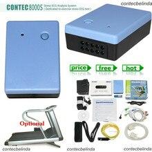 CONTEC 8000s WiFi Wireless 12-Lead STRESS TEST SYSTEM EKG MACHINE WiFi software Promotion Price Factory Sale