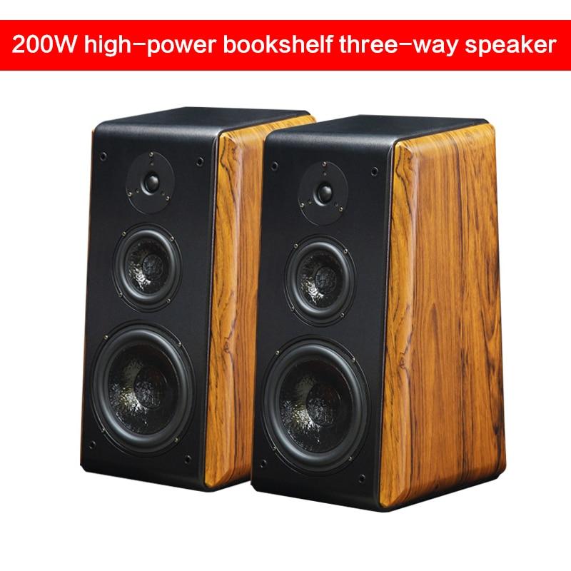 200 واط 8 بوصة ثلاثية الاتجاه مكبر هاي فاي حمى المسرح المنزلي السلبي رف الكتب الطابق إلى السقف الصوت عالية الدقة رصد مكبر للصوت