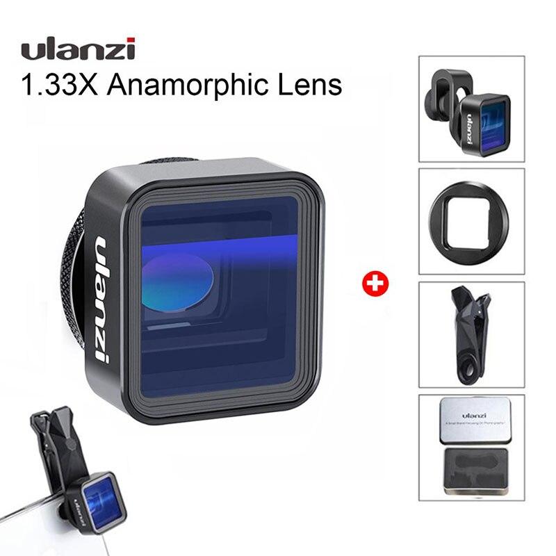 عدسة Ulanzi غير متبلور لآي فون 12 برو ماكس X 1.33X 1.55X شاشة فيديو واسعة عريضة Slr فيلم فيديوميكر صانع الأفلام