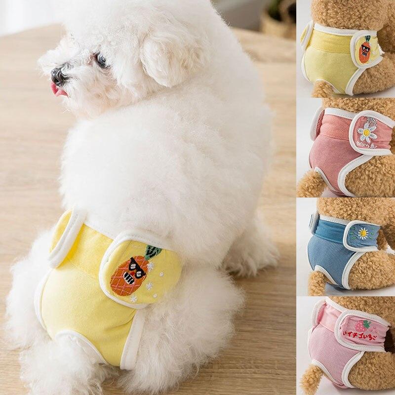 Милая собака подгузник санитарные моющиеся щенок коротким ворсистый Обёрточная бумага собака нижнее белье собака физической штаны Собака ...