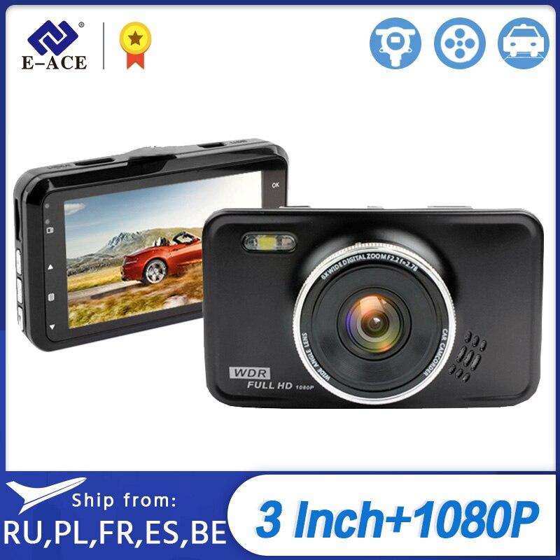Grabadora de vídeo Full HD 1080P Dvr para coche E-ACE con linterna Led Dashcam grabadora automática para coche videocámara Dash cámara de Coche DVRs