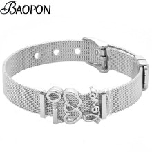 Fashion Rvs Mesh Horloge Riem Armbanden Voor Vrouwen Liefde Key Charm Vriendschap Armband Sieraden Gift