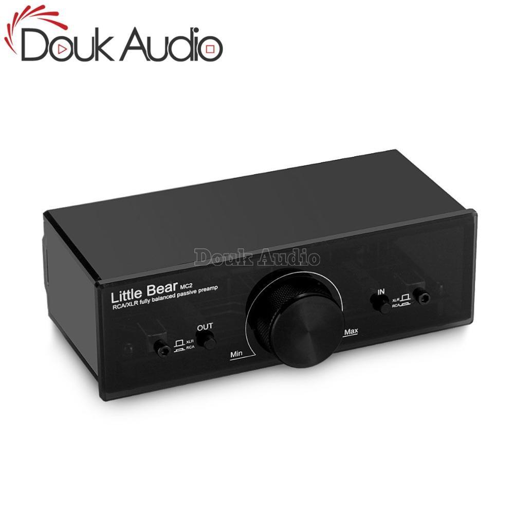 Little bear MC2 Mini 2-Way Fully Balanced XLR RCA Converter Stereo Audio Adapter Passive Preamplifier