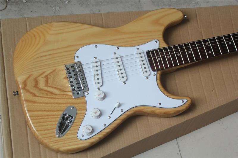 Tienda de fábrica elm ash body ST signature diapasón de palisandro 6 cuerdas cromo Hardware Guitarra eléctrica Guitarra envío gratis
