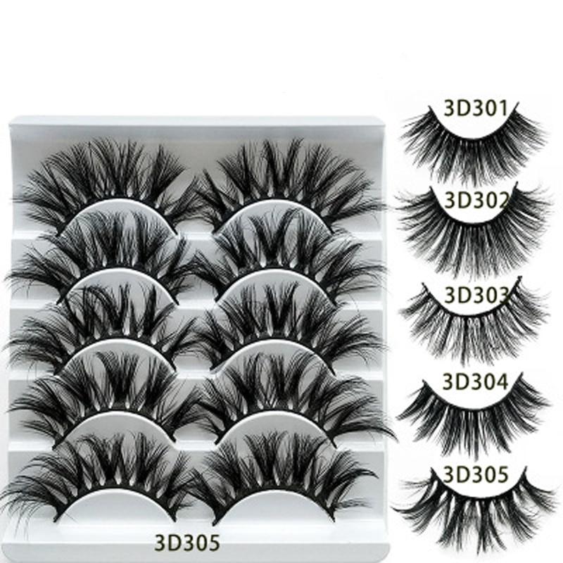3D Faux Mink Lashes Thick Fluffy False Eyelashes for Women Makeup Eyelash Extension Faux cils