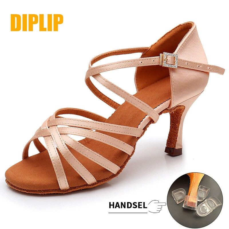 DIPLIP New Hot Latin Dance Shoes Women's High Heel Dance Shoes Tango Soft Bottom Dance Shoes 5 / 7cm Girls Salsa Ballroom Shoes