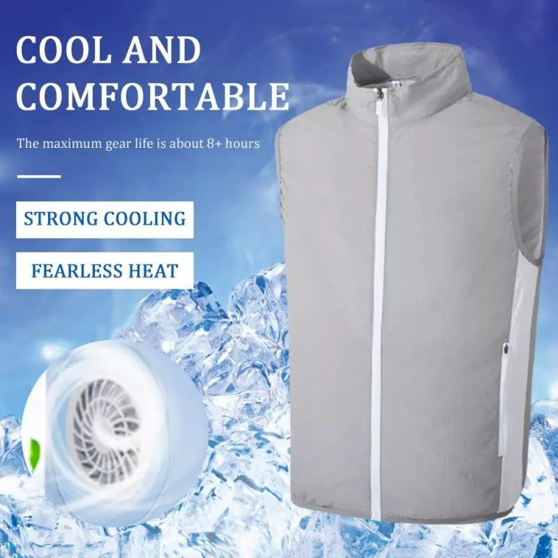 2021 Summer Cooling Clothing Air-conditioning Fan Vest USB Smart Charging Jacket Men Women Outdoor Breathable Cool Working Coat