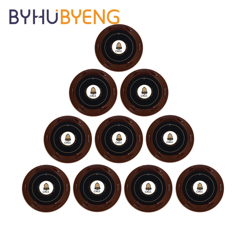 BYHUBYENG 10pcs Button for Hookah Young Pager for Waiter Nursing System Panic Admission Staff Wireless Call Restaurant Equipment