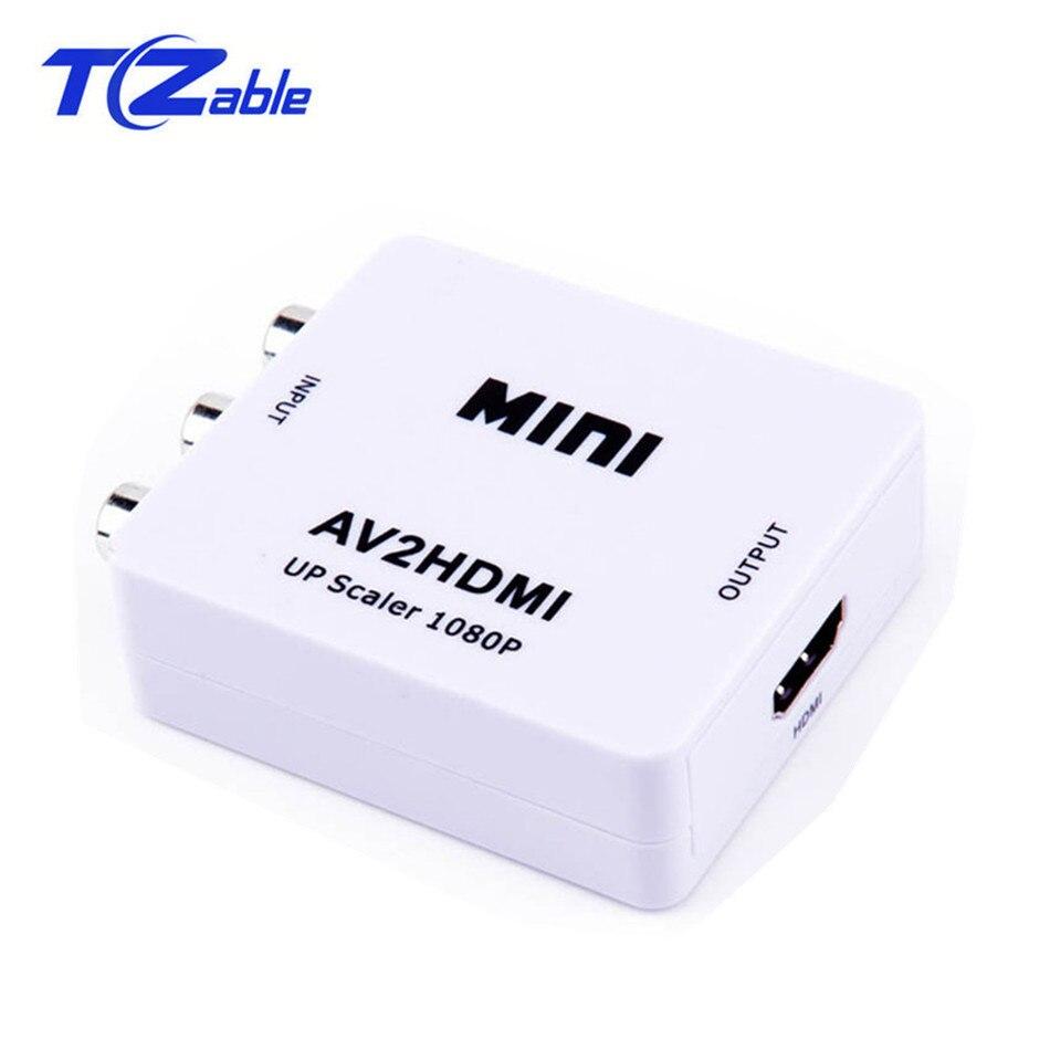Boîtier de convertisseur AV vers HDMI HD adaptateur Audio vidéo RCA vers HDMI AV/CVSB L/R vidéo 1080P HDMI2AV prise en charge NTSC PAL pour le projet