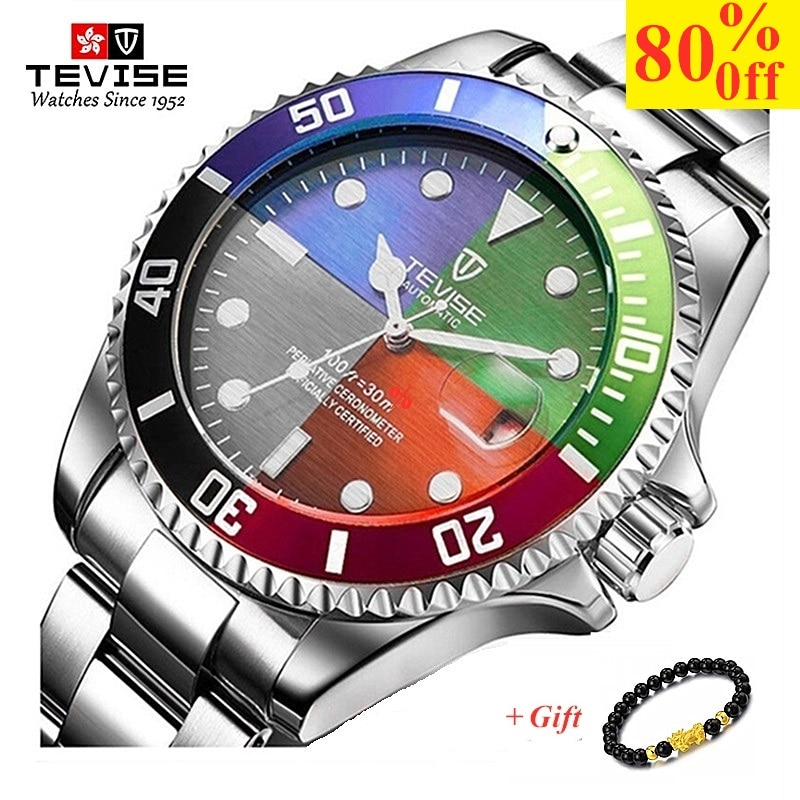 TEVISE Men Watches Top Brand Luxury Casual Quartz Wristwatch Mens Stainless Steel Waterproof Male Cl