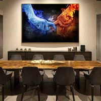 creative pop art fire and ice love pictures prints paintings wall art pictures for living room home decor no frame