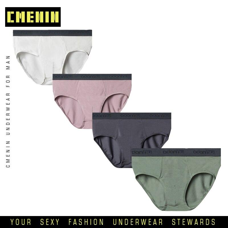 4 unids/lote de calzoncillos modales para Hombre, ropa interior suave para Hombre, calzoncillos de Hombre, Braga de Bikini para Hombre, Sexy Slip Hombre 307