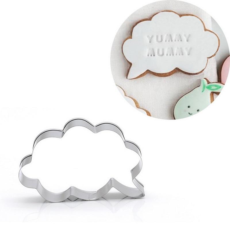 İletişim çerçevesi bulut kek kalıbı paslanmaz çelik bisküvi kurabiye kesici DIY fondan dekorasyon pişirme araçları şeker macunu kalıp S7093