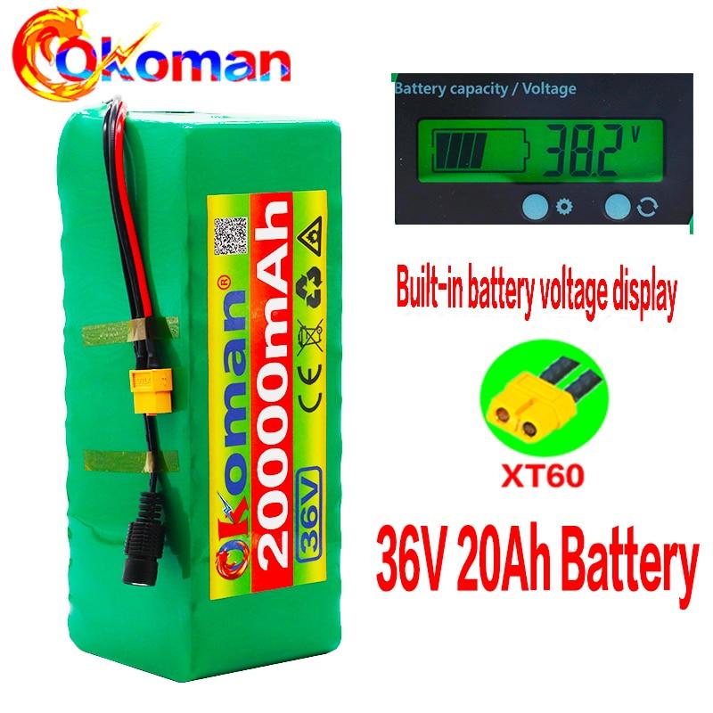 10s4p 36 V 20AH Elektrische Fahrrad Batterie 20A BMS Lithium-Batterie Pack 36 Volt mit Ebike Batterie XT60 stecker mit kapazität Anzeige