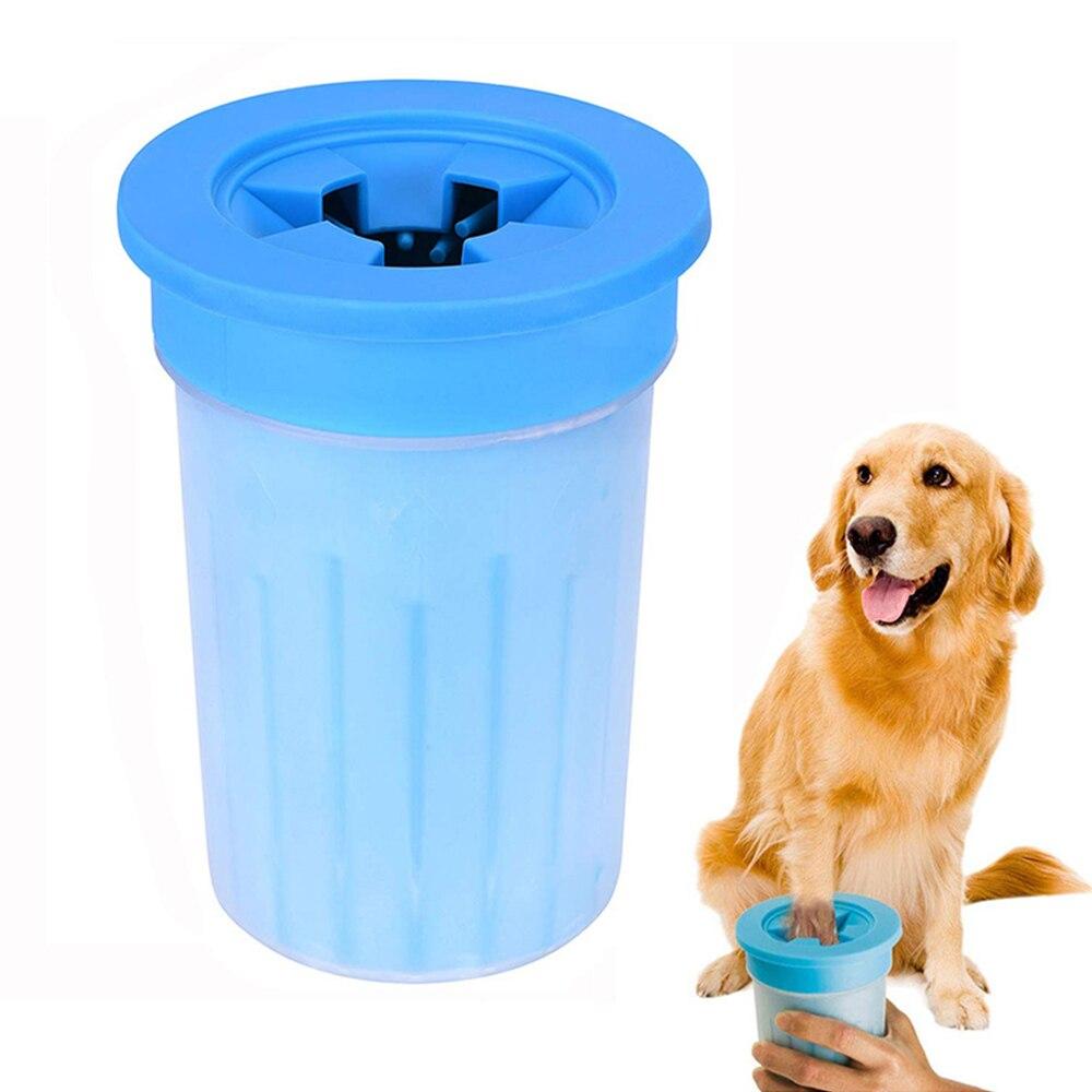 Silicone macio pet pé limpo copo para gato cão pata massagem máquina de lavar ferramenta de limpeza escova de lavar paw washer acessórios para animais de estimação para anima