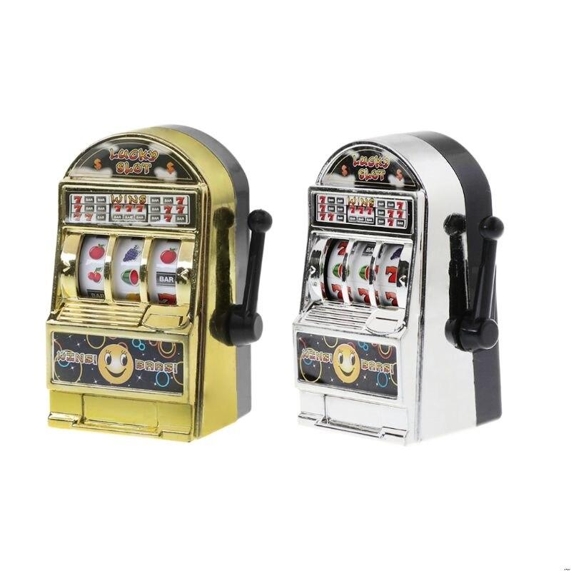 1 ud. Mini máquina tragamonedas de fruta Lucky Jackpot, divertido regalo de cumpleaños, juguete educativo para niños