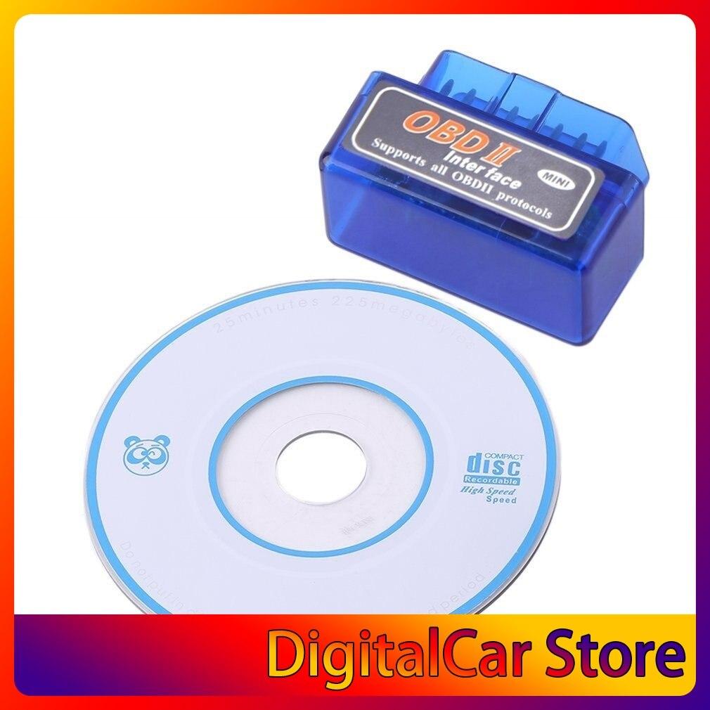 Latest Version Super Mini ELM327 Bluetooth V2.1 OBD2 Mini Elm 327 Car Diagnostic Scanner Tool For ODB2 OBDII Protocols hot sale!