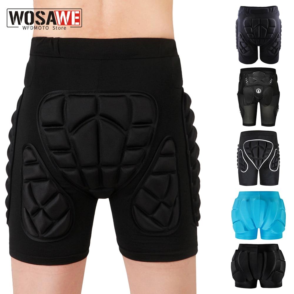 WOSAWE Unisex motorcycle shorts Ski Snowboarding Protective Gear Hip Butt Pad Extreme Sports MTB Bike Armor motocross Shorts