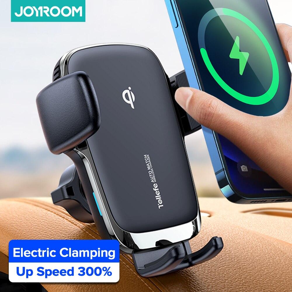 Joyroom حامل هاتف السيارة اللاسلكية شاحن سيارة حامل الهواء تنفيس جبل حامل سيارة لاسلكية مستقرة حامل هاتف عالمي