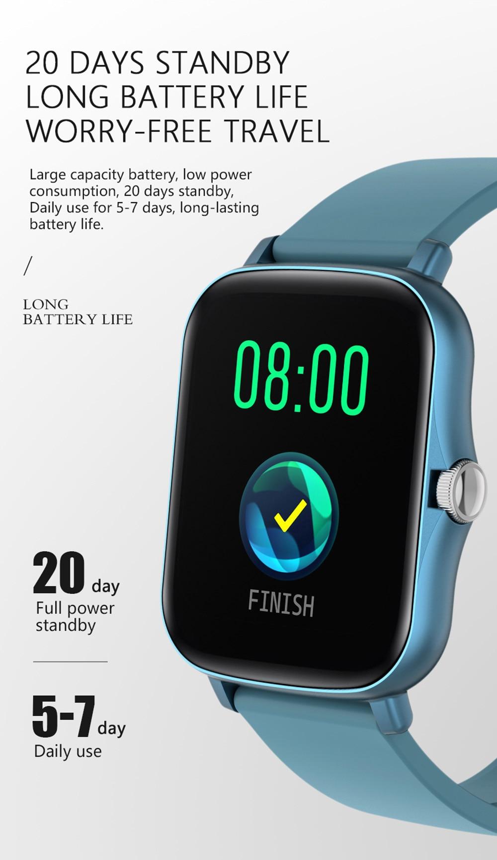 Hd857a4e26dfb47abb375279ff65fa1ebV COLMI P8 Plus 1.69 inch 2021 Smart Watch Men Full Touch Fitness Tracker IP67 waterproof Women GTS 2 Smartwatch for Xiaomi phone