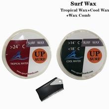 Natural Surfboard Tropical wax+Cool wax+surf wax comb surf wax for surfing sport