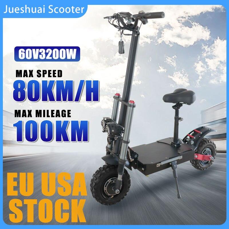 80 KM/H Velocidad máxima Scooter eléctrico 3200W Motor Dual de la rueda...