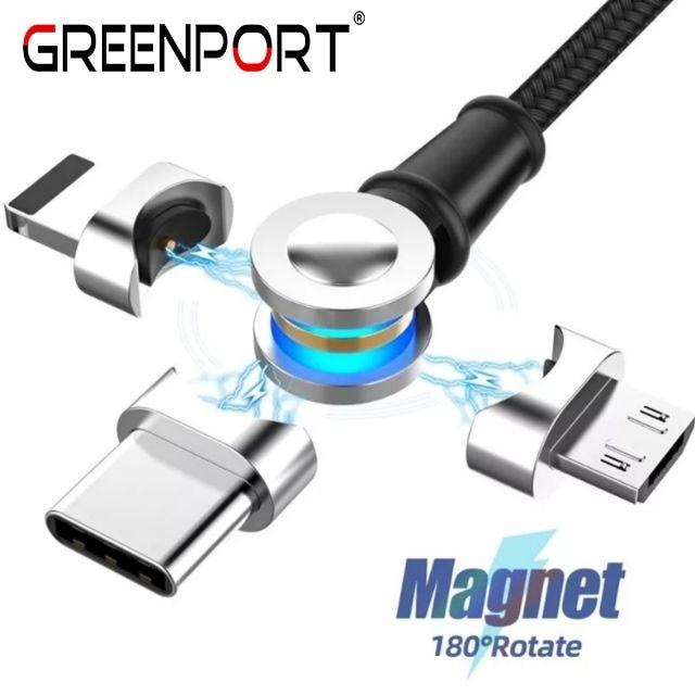Cable Micro USB tipo C magnético, cargador de teléfono de carga rápida,...