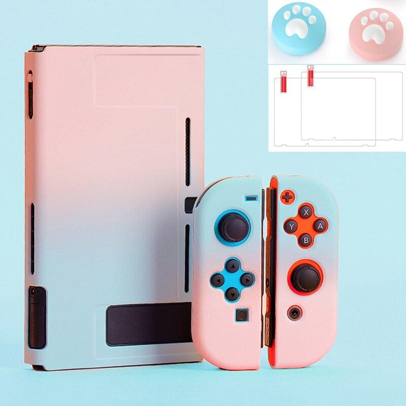 Carcasa protectora para consola Nintendo Switch NS para consola Nintendo Switch, carcasa Joycon, piel exterior ultrafina y desmontable