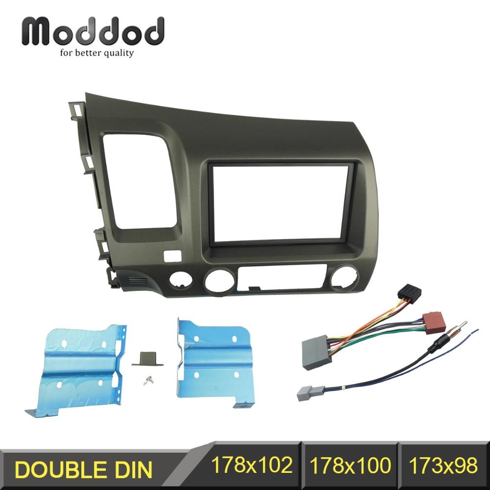Двухdin радио фасция для Honda Civic DVD стерео панель установка обшивки комплект рамка ободок провод жгут проводов ISO