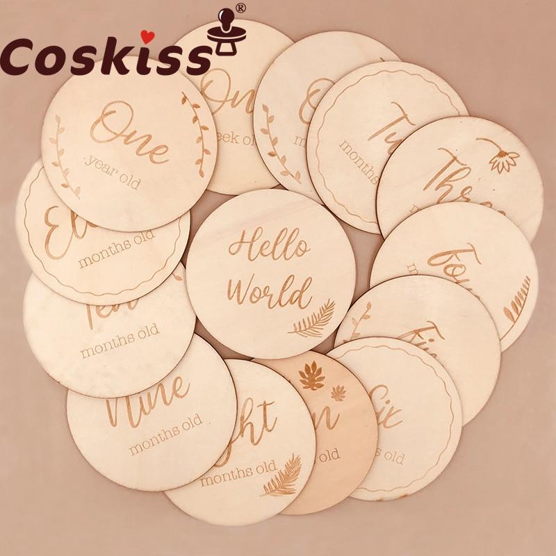 Coskiss, 1 шт., детская памятная фотография для новорожденных детей, детская фотография, номер карты, реквизит для фотографий, подарки