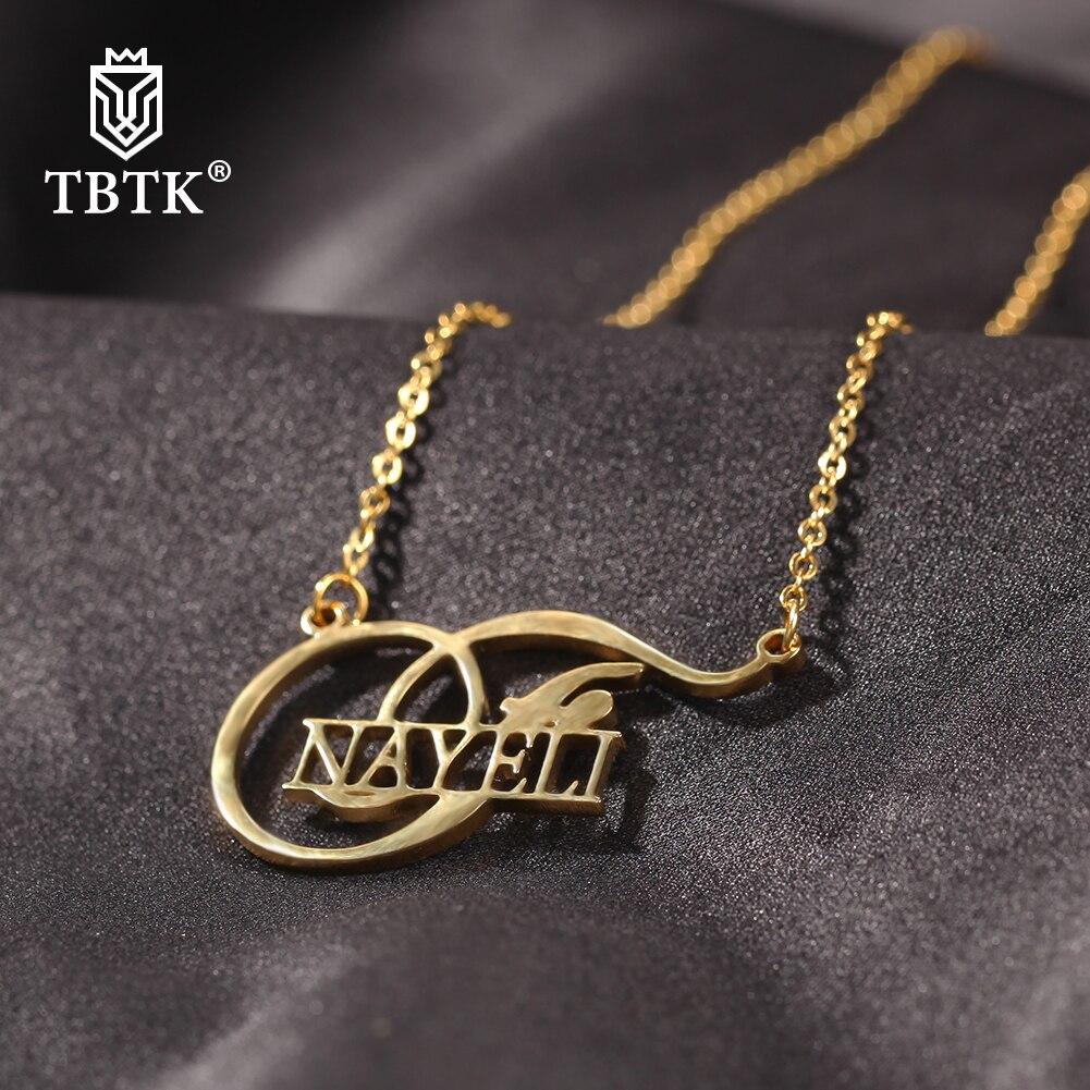 Женское Ожерелье с буквами TBTK, ожерелье-цепочка из нержавеющей стали под заказ, элегантный аксессуар в стиле хип-хоп