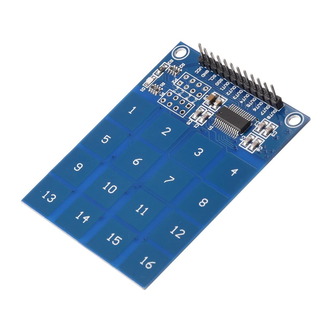 Uxcell 16-Key kapasitif dokunmatik sensör yüzey modülü TTP229B Arduino için