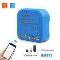 Eachen     Mini commutateur WiFi intelligent ON-OFF  fonctionne avec lapplication Tuya Smartlife  alexa et google home