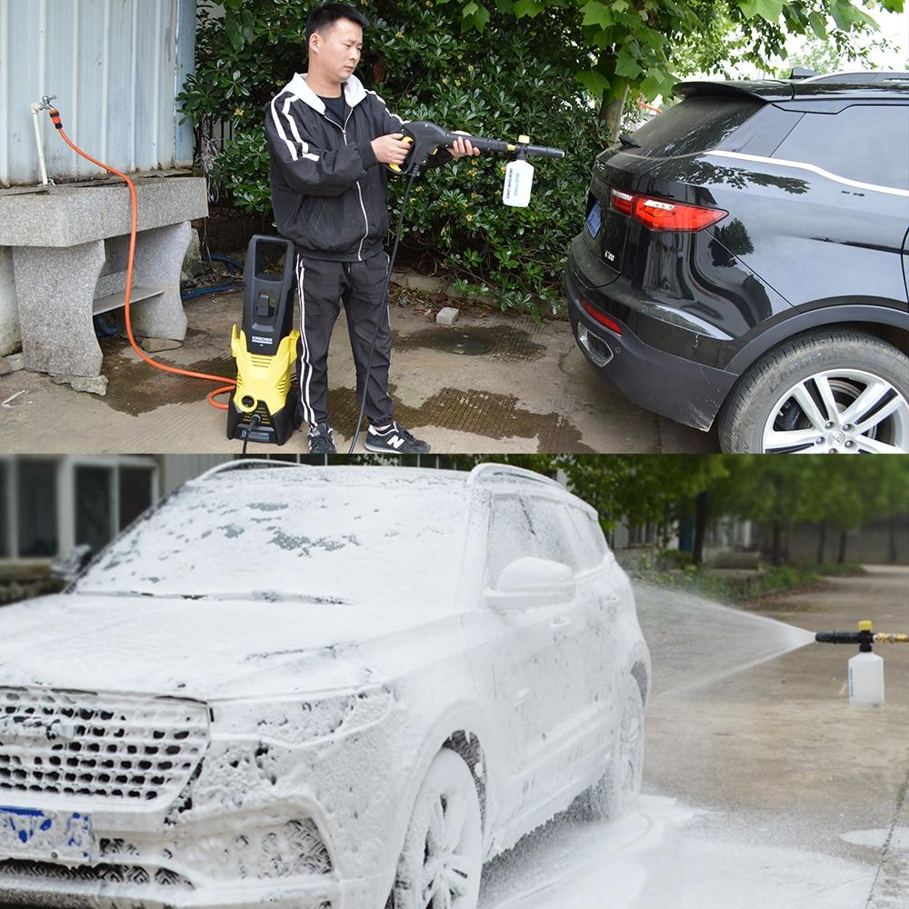 Car Wash Foam Gun Nozzle foam cannon foam generator for Karcher Kranzle Interskol Elitech Huter Gerni Stihl High Pressure Washer