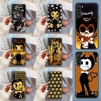 game bendy cartoon phone case for xiaomi redmi note 7 7a 8 8t 9 9a 9s 10 k30 pro ultra black silicone prime luxury back fashion