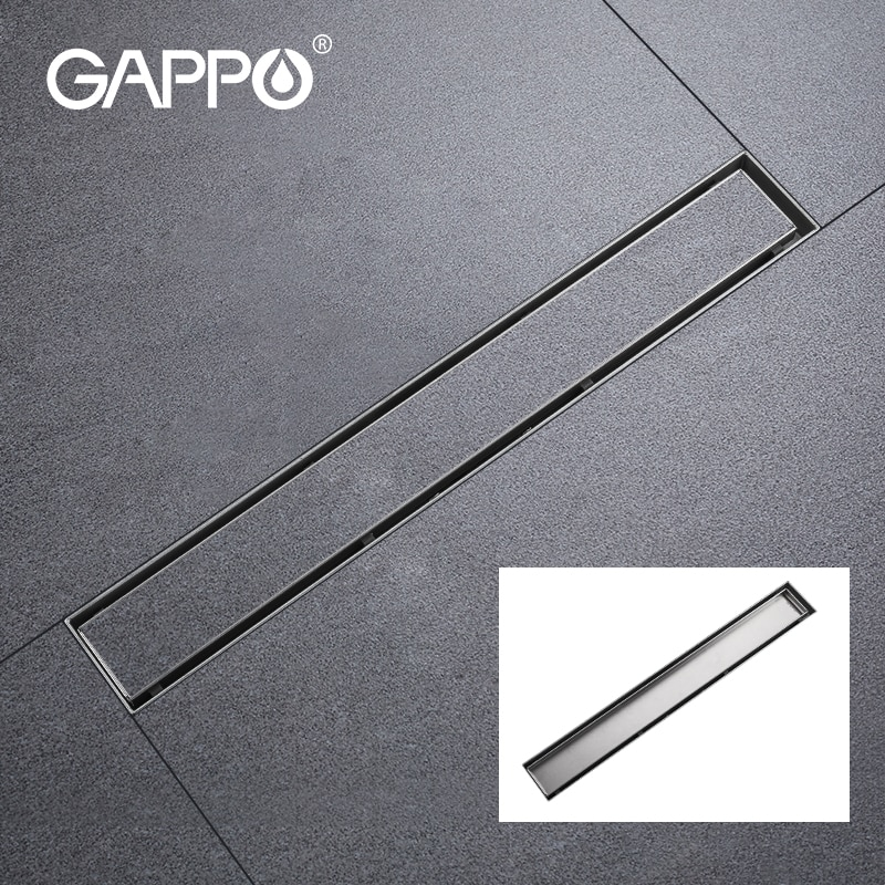 Дренаж для душа GAPPO 304 из нержавеющей стали, дренажный дренаж для пола, длинный линейный дренажный дренаж для ванной комнаты, кухни, отеля