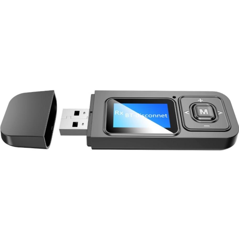 De Audio Bluetooth 5,0 transmisor receptor pantalla LCD receptor USB con Bluetooth...
