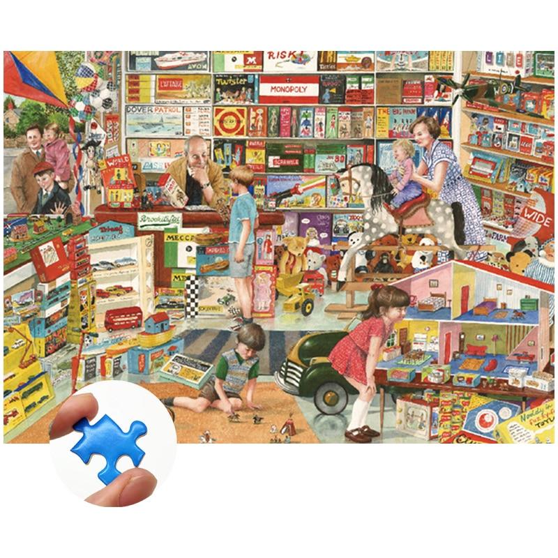 Пазл из толстой бумаги, 1000 шт., аниме-комиксы, обучающие игрушки для детей, для взрослых и детей, интерактивные игры