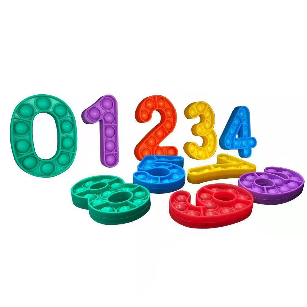 Silicone Digital Toys Children Mental Arithmetic Science, Education, Decompression Interactive Toys Childrens Stress Relief Toys enlarge
