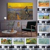Peinture a lhuile de paysage Van Gogh  toile dart abstrait  salon  couloir  bureau  decoration murale de la maison